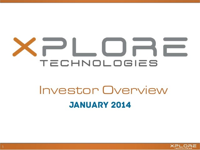 Investor Overview january 2014  1