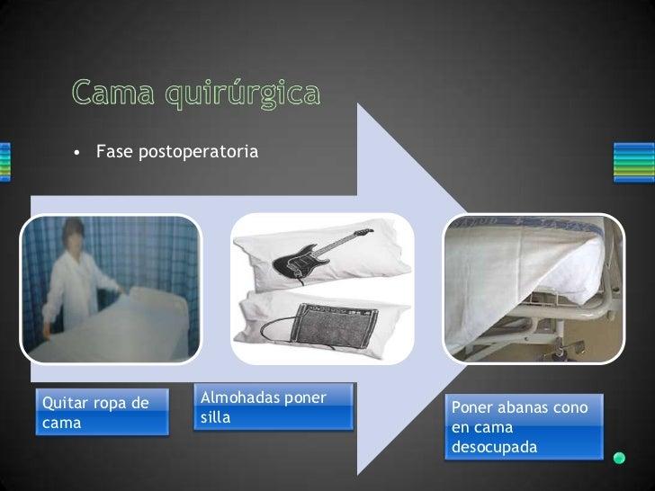 Tendido de cama hospitalaria for Cama ocupada