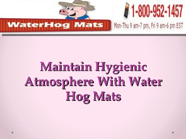 Maintain Hygienic Atmosphere With Water Hog Mats