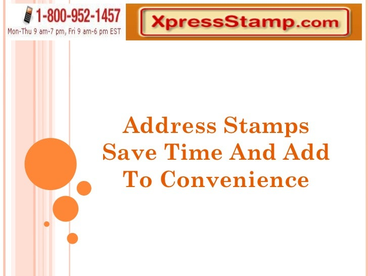 Address Stamps Save Time And Add To Convenience