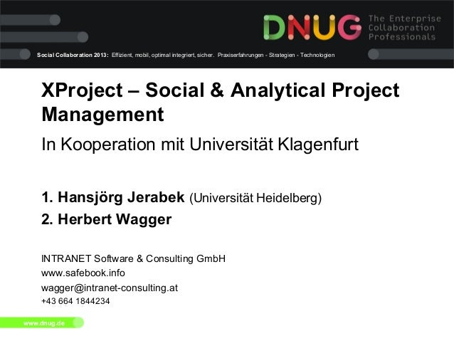 XProject - Social and Analytical Project Management