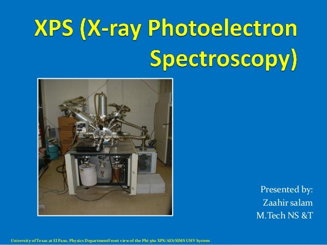 xps  x ray photoelectron spectroscopy