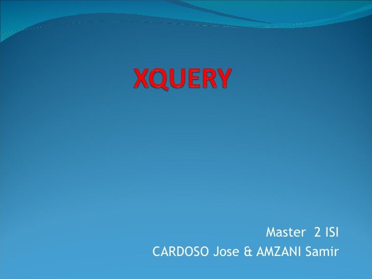 Master  2 ISI CARDOSO Jose & AMZANI Samir
