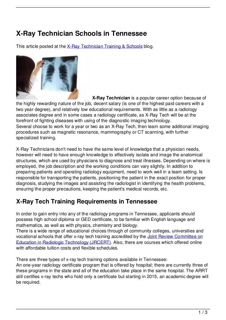 radiology program application essay