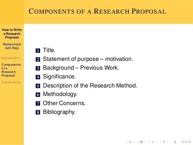 steps for writing research proposal