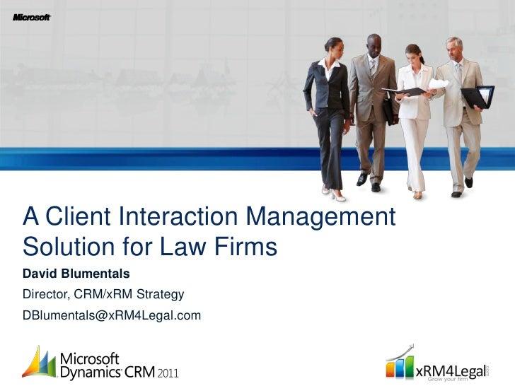 xRM4Legal for fhe Contact Center