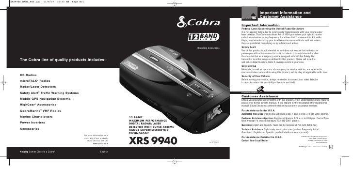 Xrs 9940-manual