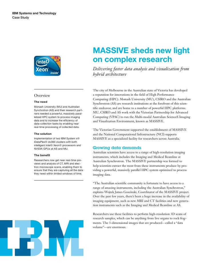 IBM Systems and TechnologyCase Study                                                          MASSIVE sheds new light     ...