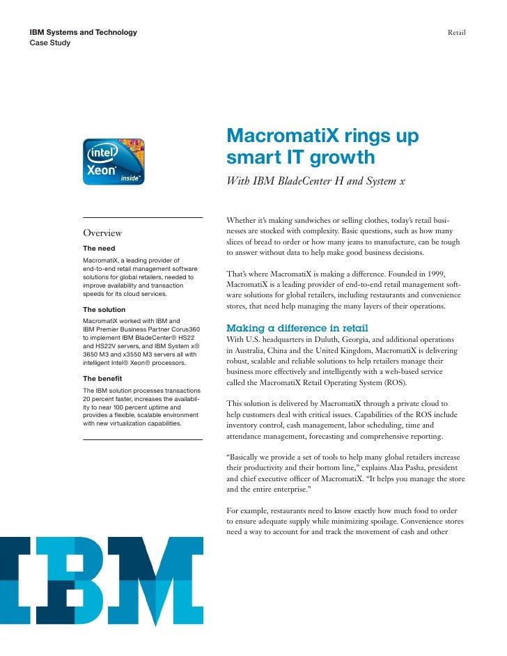 MacromatiX rings upsmart IT growth