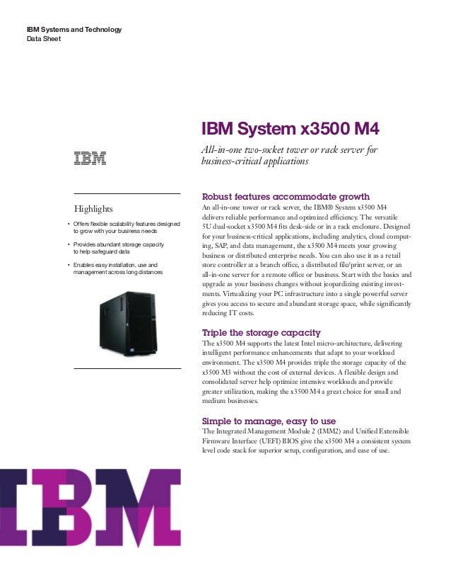 IBM System x3500 M4