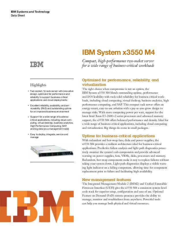IBM System x3550 M4