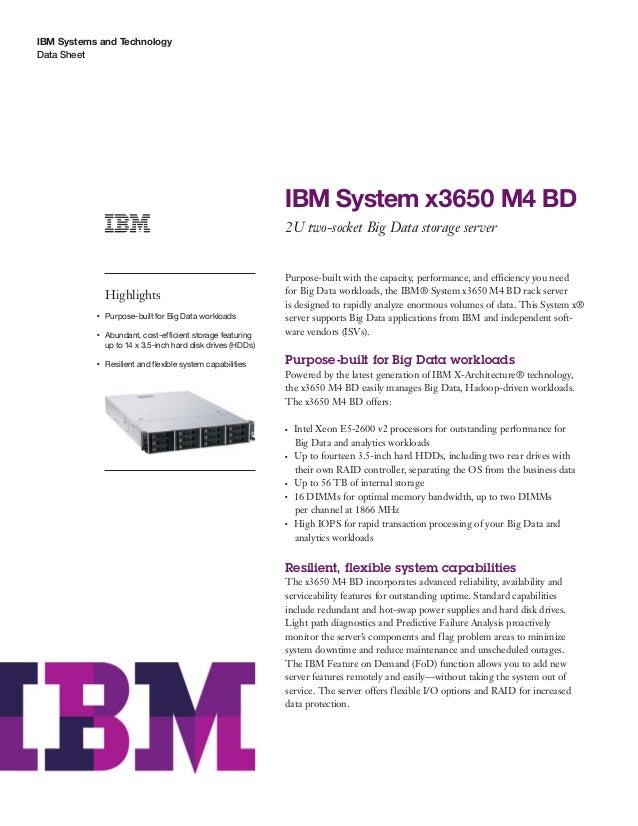 IBM System x3650 M4 BD