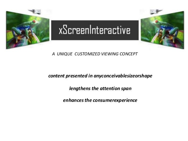 A UNIQUE CUSTOMIZED VIEWING CONCEPT content presented in anyconceivablesizeorshape lengthens the attention span enhances t...