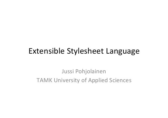 Extensible Stylesheet Language