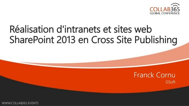 Online Conference June 17th and 18th 2015 WWW.COLLAB365.EVENTS Réalisation d'intranets et sites web SharePoint 2013 en Cro...