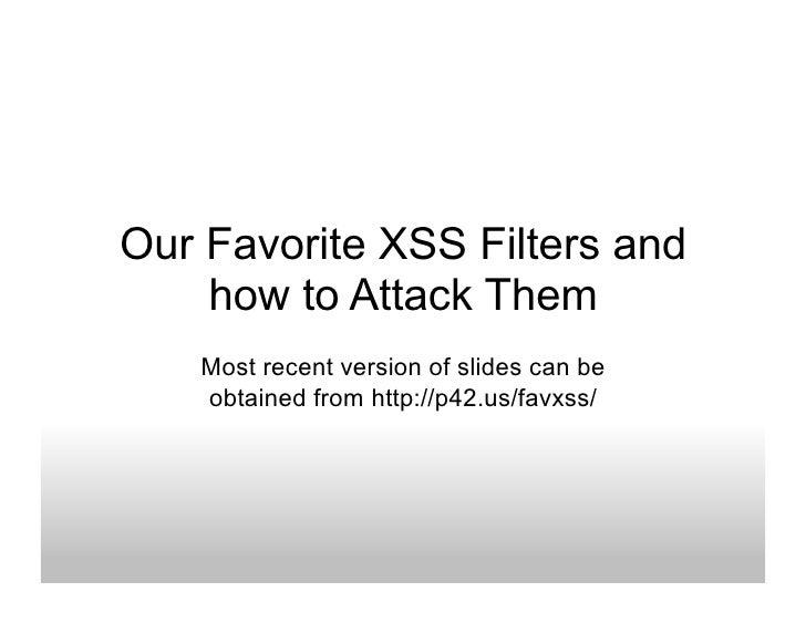 주로사용되는 Xss필터와 이를 공격하는 방법