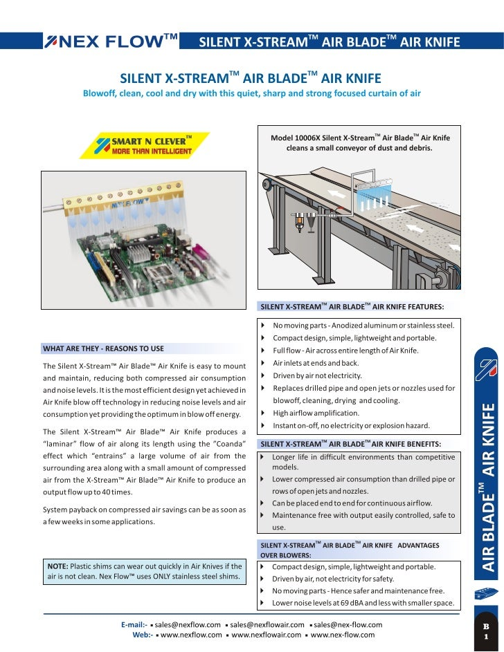 Air Knife Blow Off Systems : Air knife stream curtain blow off system