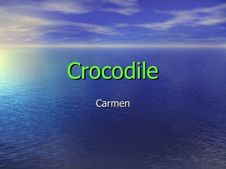 Crocodile Carmen