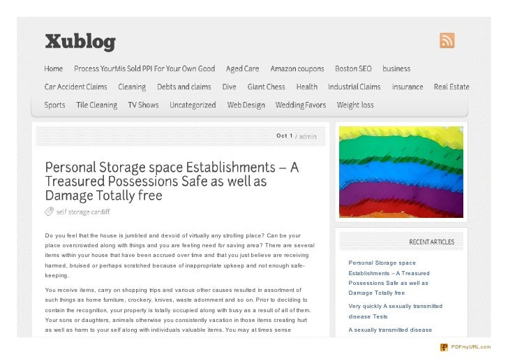 Xublog.info personal-storage-space-establishments-a-treasured-possessions-safe-as-well-as-damage-totally-free