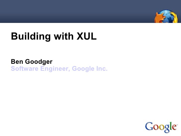 Building with XUL