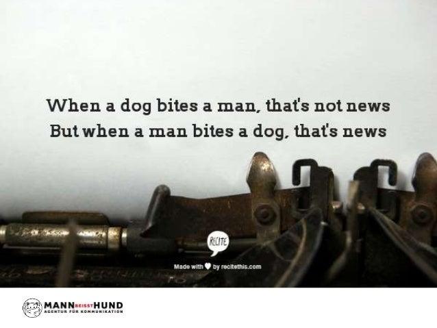 """""""Mann beißt Hund"""":  Herkunft und Rezeptionsgeschichte eines Zitats  © Mann beißt Hund 2014"""