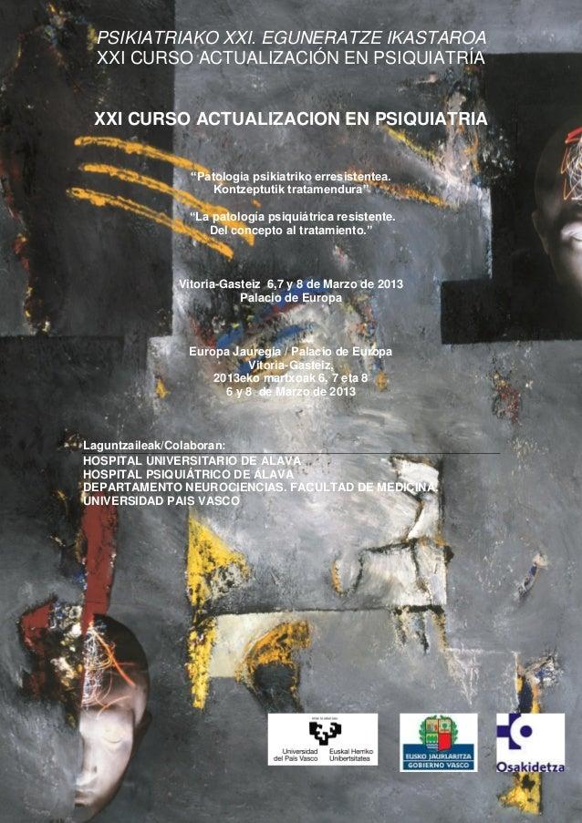 XXI CURSO ACTUALIZACION EN PSIQUIATRIA