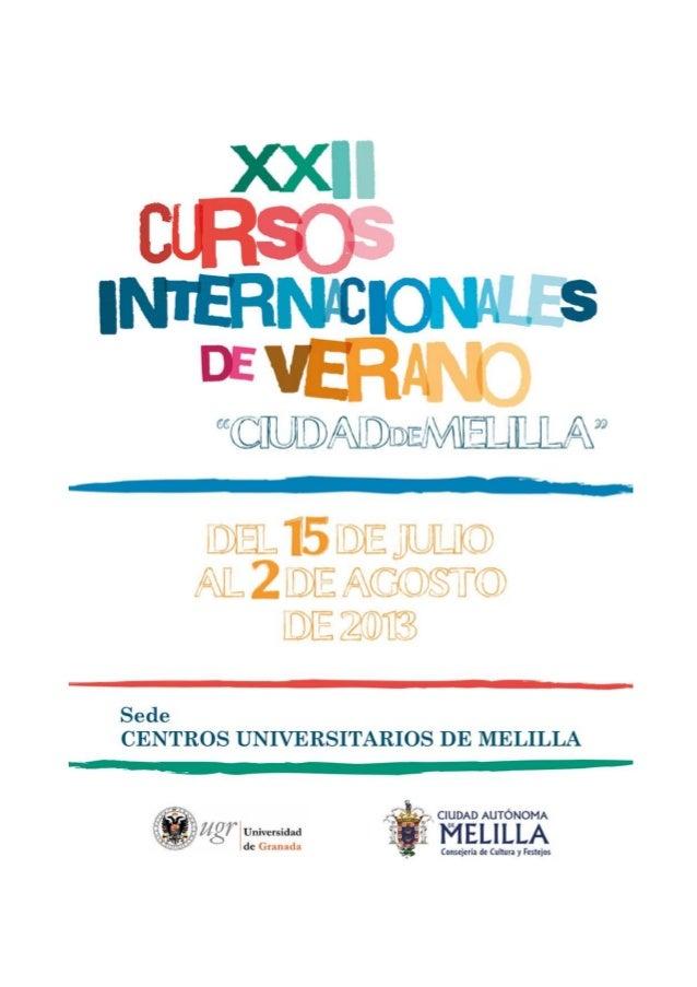 XXII Cursos de Verano Ciudad de Melilla