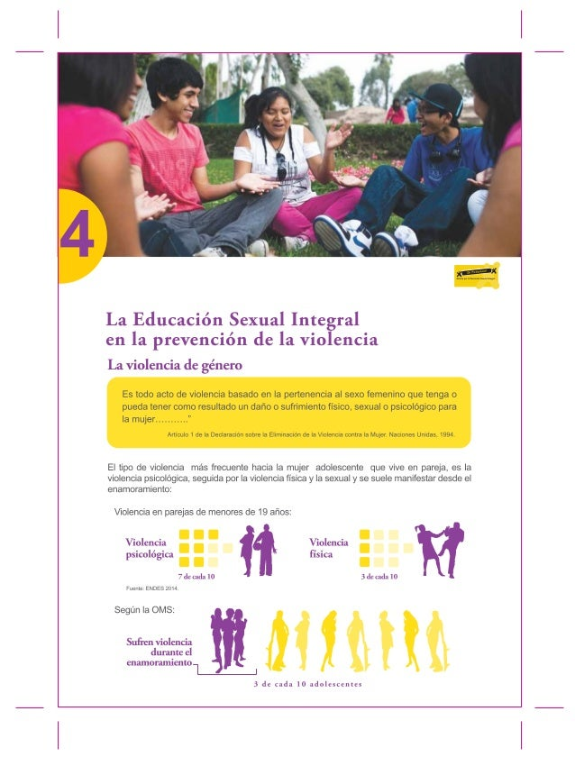 .. ... ... ... .—. ,.. ..llm-  La Educación Sexual Integral en la prevención de la violencia  La violencia de énero g  Es ...