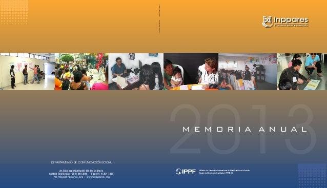 Memoria anual a o 2013 for Memoria anual