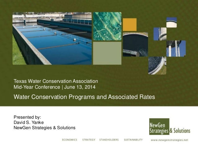 Water Conservation Programs and Associated Rates