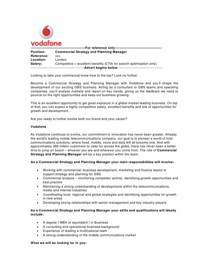 vodafone strategic planning Business tool: resource analysis rationale and application  this resource analysis is a strategic planning tool which.