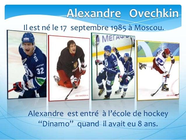 """Il est né le 17 septembre 1985 à Moscou.  Alexandre est entré à l'école de hockey """"Dinamo"""" quand il avait eu 8 ans."""