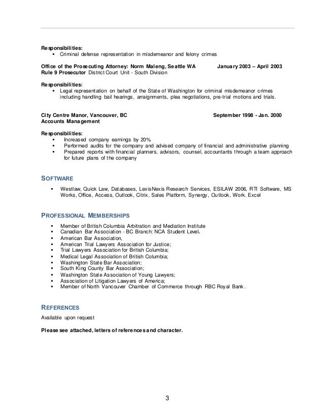 County attorney sample resume