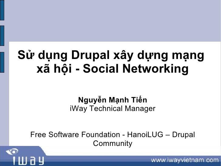 Xây dựng mạng xã hội bằng drupal