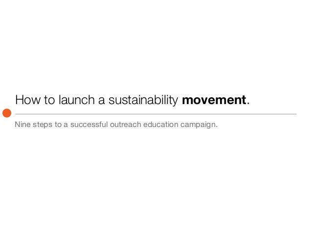 How to launch a sustainability movement