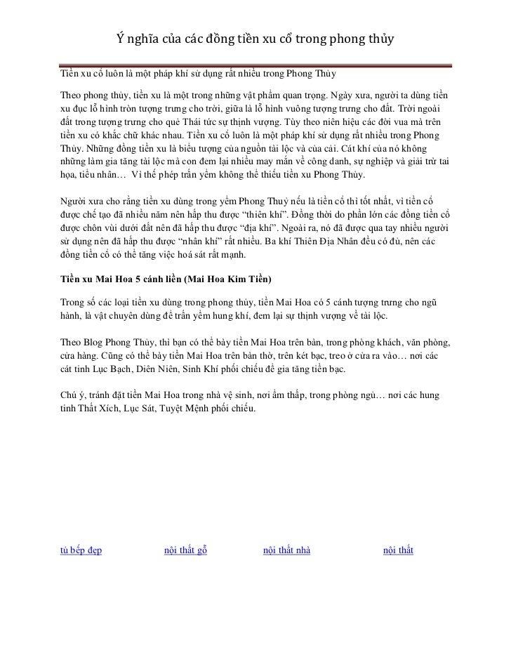 Ý nghĩa của các đồng tiền xu cổ trong phong thủyTiền xu cổ luôn là một pháp khí sử dụng rất nhiều trong Phong ThủyTheo pho...