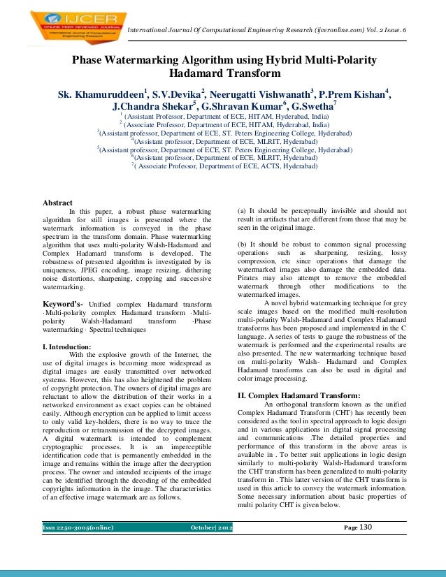 nternational Journal of Computational Engineering Research(IJCER)