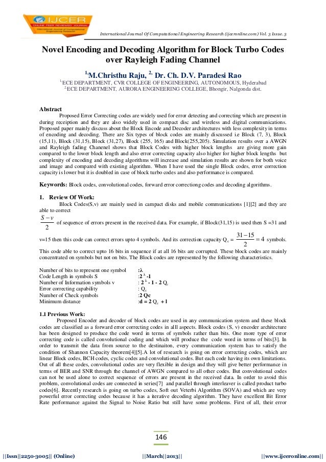 International Journal Of Computational Engineering Research (ijceronline.com) Vol. 3 Issue. 3146||Issn||2250-3005|| (Onlin...