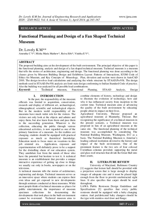 Dr. Lovely K M Int. Journal of Engineering Research and Applications www.ijera.com ISSN : 2248-9622, Vol. 4, Issue 4( Vers...