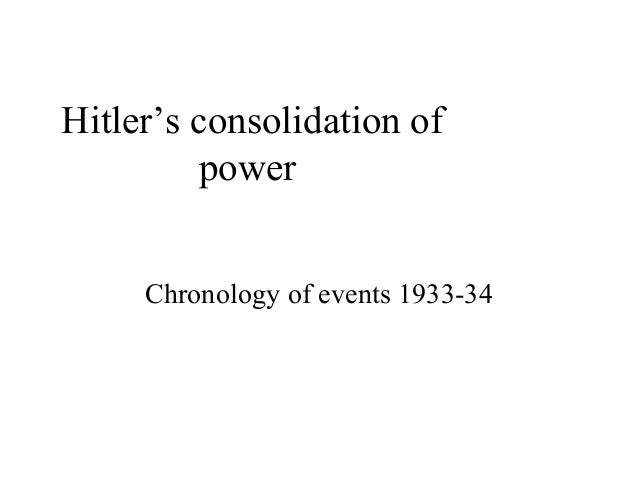Hitler's consolidation ofpowerChronology of events 1933-34