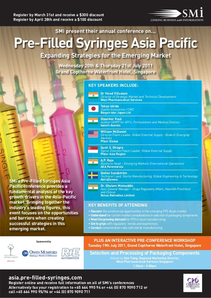 Pre Filled Syringes Asia Pacific