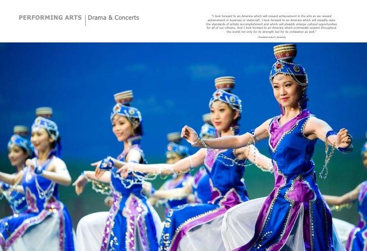 "PERFORMING ARTS Drama & Concerts                                                                        ""I look forward to..."
