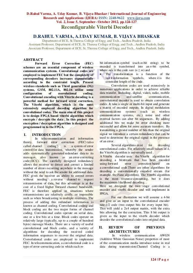 D.Rahul Varma, A. Uday Kumar, B. Vijaya Bhaskar / International Journal of Engineering              Research and Applicati...