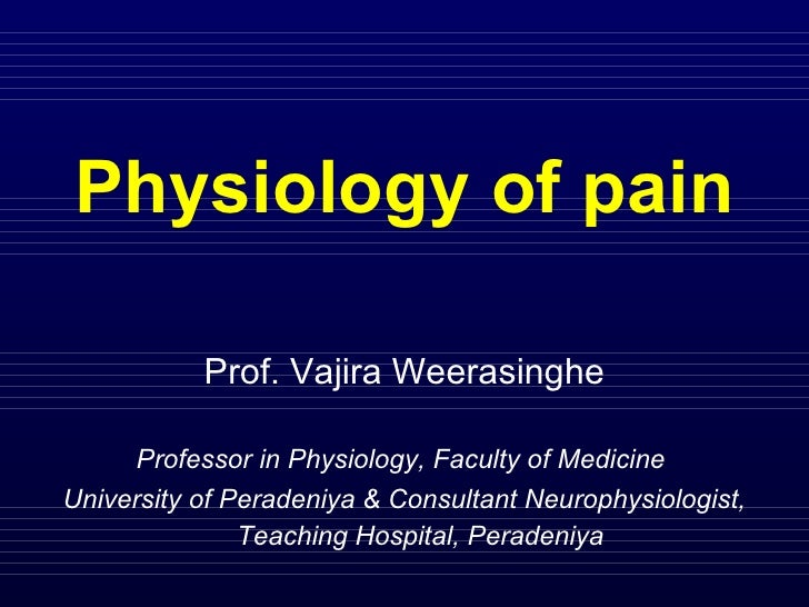 Y2 s1 pain physiology