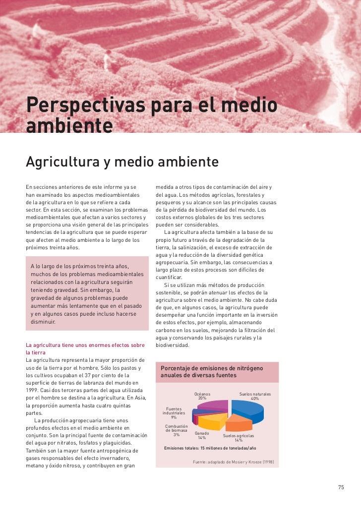 Perspectivas para El Medio Ambiente: Agricultura y Ambiente