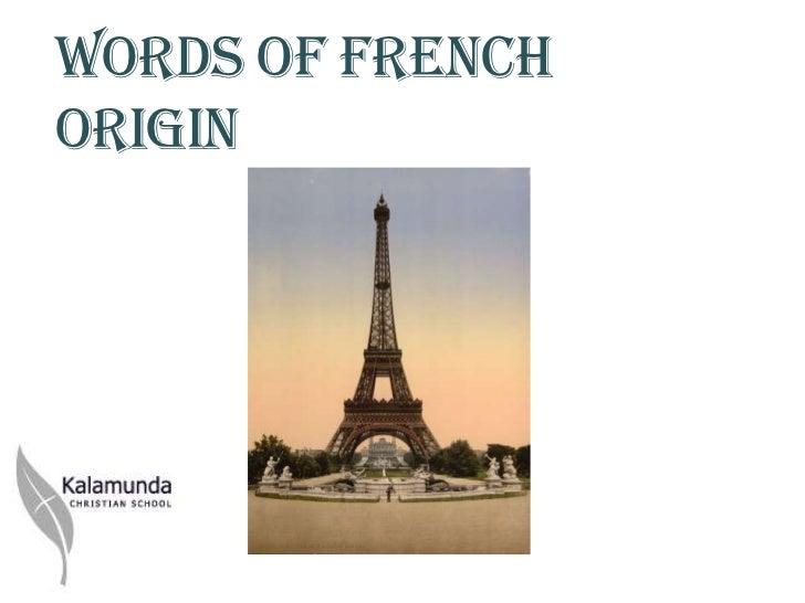 Y6 words of french origin