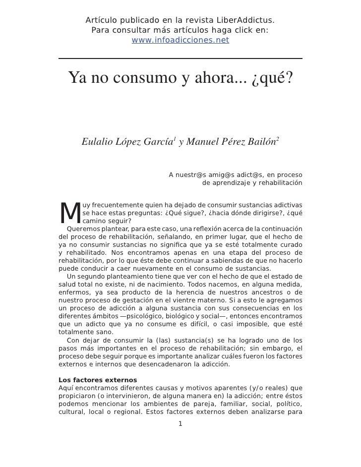 Artículo publicado en la revista LiberAddictus.         Para consultar más artículos haga click en:                   www....