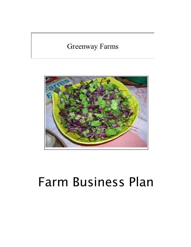 Farm business plan Farm plan