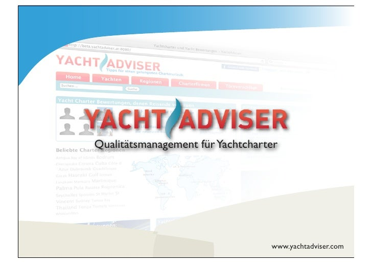 Qualitätsmanagement für Yachtcharter                                       www.yachtadviser.com
