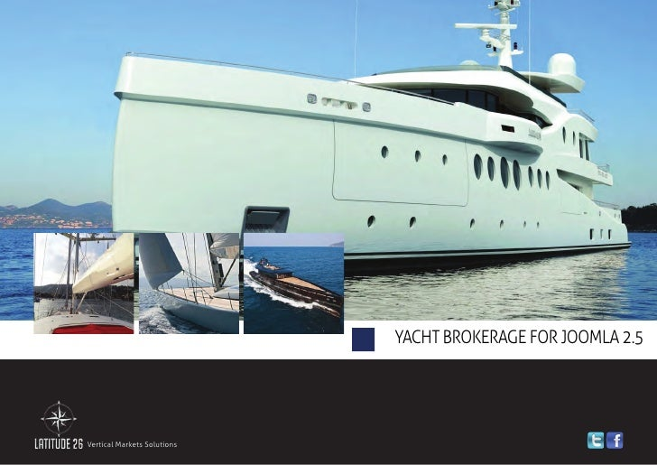 Yacht Brokerage Solution for Joomla 2.5 - Brochure 2012